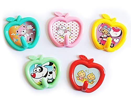 BAQI Lot de 2–02 dessin animé pour enfants en forme de pomme-Couleurs assorties-Lot de 2 crochets à acheter Get FREE Myshophome Lot de 2