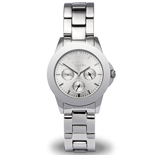 gooix GX08007594 Uhr Damenuhr Edelstahl Edelstahl 5 bar Analog Datum Silber