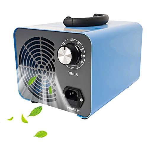 RDJSHOP Generador de Ozono Eliminar Formaldehído Purificador de Aire Desodorante Esterilizador Habitación, Humo, Automóviles y Mascotas,Blue-15000mg/h