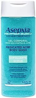 Asepxia Shower Gel Acne Blackhead Pimple Treatment & Exfoliating Scrub with 2% Salicylic Acid, 8.45 Fluid Ounce