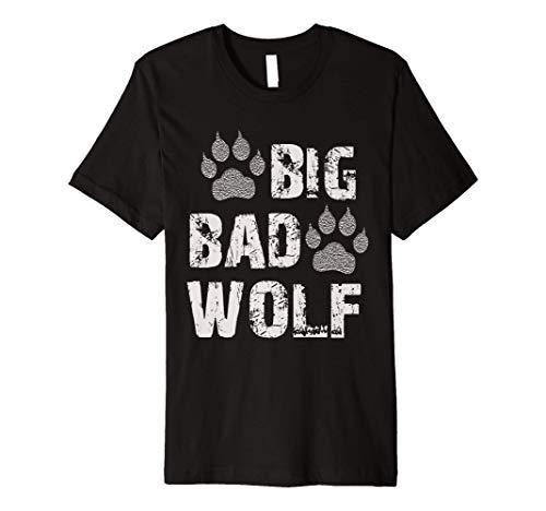 Big Bad Wolf Paw Print Halloween Costume T-Shirt