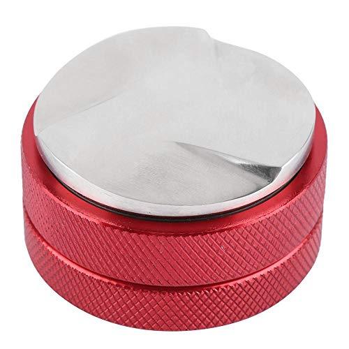 Antilog Coffee Tamper, Edelstahl Smart Coffee Tamper 58mm Sockel mit DREI abgewinkelten Hängen(rot)