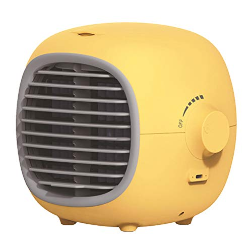 Small Ventilador de ar condicionado portátil, refrigerador de ar evaporativo, purificador umidificador, silencioso, pessoal, USB, recarregável, mini ventilador de refrigeração para casa, escritório, quarto
