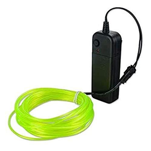 Luz de neón led 10 colores 5m cable con adaptador de alimentación LED tira de la lámpara USB/coche/batería caso 3 tipos de interfaz