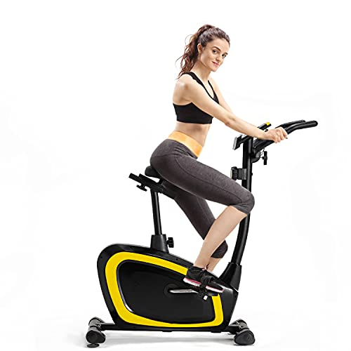 Upright Exercise Bike, CheerTran Indoor Cycling Bike Stationary for Cardio Training - Magnetic Spin Bike with Ipad Holder