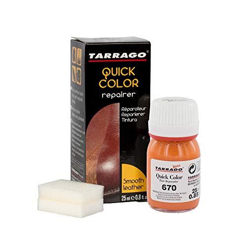Tarrago | Quick Color 25 ml | Tinte Reparador para Cuero (Naranja De Lujo 670)