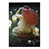 Modern Art Victor Nizovtsev Canvas Prints Oil Painting Nude Mermaid Decorations Wall Picture for Living Room Poster -20X28 Inch No Frame