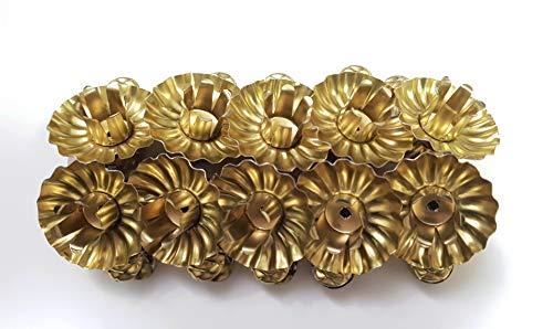 10 Stück Metall Gold Klemmen Clip Baumkerzenhalter Weihnachtsbaum Christbaum Kerzenhalten