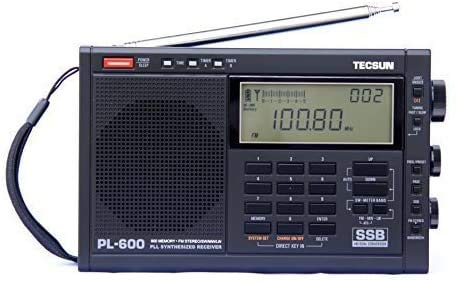 TECSUN PL-600 Digital Tuning Full-Band FM Radio Stereo MW/SW-SBB/PLL Synthesized Stereo Radio Receiver PL600 Radio