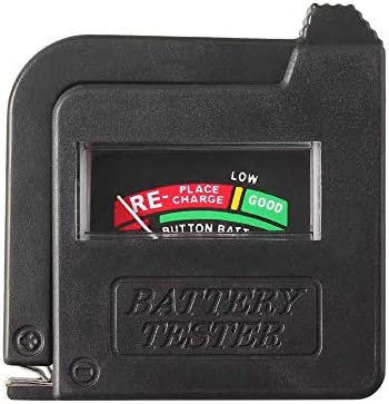 Aa Aaa C D 9V 1.5V Universal Button Cell Battery Volt Tester Checker Indicator,black,