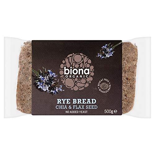Biona Organic Rye Bread Chia & Flax Seed, 500g