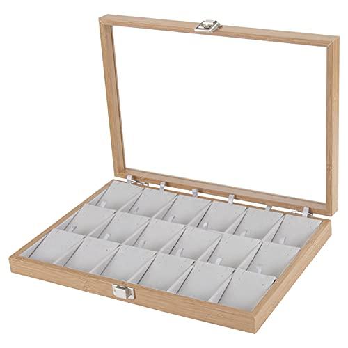 Hellery Conjunto de Organizador de bandejas de joyería con Tapa Transparente, bandejas de exhibición de Almacenamiento de joyería para cajón, Organizador de