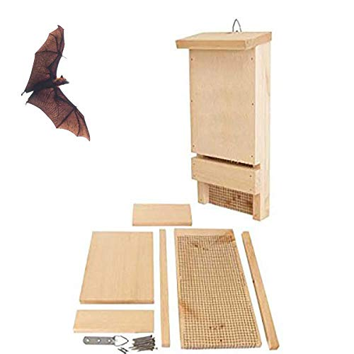 Bels casa para murciélagos, Caja Refugio para murciélagos 18x9.5x40cm(2 pcs)