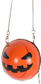 BMBN Pompoen Crossbody tas, pompoen crossbody tas PU lederen ronde vorm schoudertas voor vrouwen mode Halloween clutch tas...