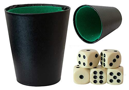 Markenlos 2 x Würfelbecher Becher inkl. 10 Würfel Spielwürfel Knobel Mäxle Spiel Spaß