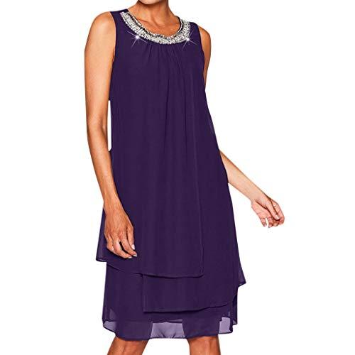 ☀ Vestidos De Fiesta para Bodas Talla Grandes Vestidos Playa Mujer Casuales Gasa Vestido Midi Verano Vestido Elegantes URIBAKY