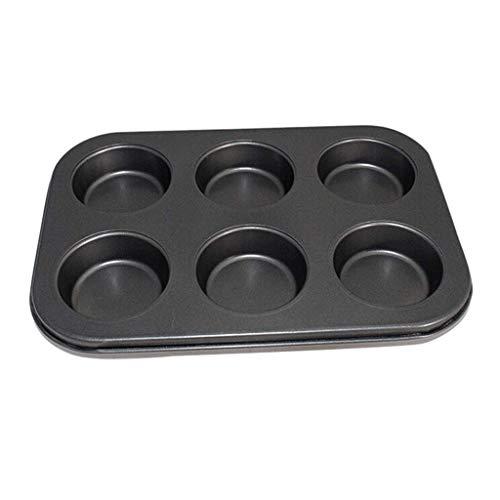 NIHAOA Panecillo Magdalena moldes Antiadherente 6 Cavidad Muffin Pan Pan Molde for Pasteles Bandeja de Horno Revestimiento Antiadherente Mollete Pasteles de la Torta de Mo (Color : -, Size : -)