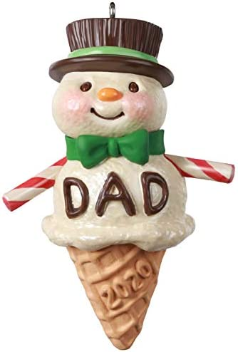Hallmark Keepsake Christmas Ornament 2020 Year Dated Dads Are Sweet Snowman Ice Cream Cone product image