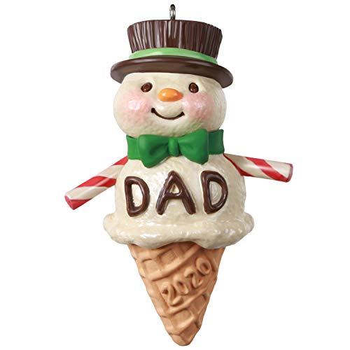 Hallmark Keepsake Christmas Ornament 2020 Year-Dated, Dads Are Sweet Snowman Ice Cream Cone