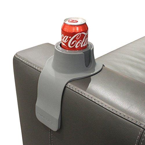 CouchCoaster, der ultimative Getränkehalter in Einheitsgröße, Stahlgrau