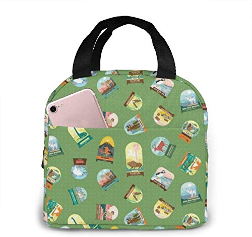 Makeup Watercolor Pink Nail Polishes Lunch Bag for Women Girls Kids Insulated Picnic Pouch Thermal Cooler Tote Bento Large Meal Prep Cute Bag Big Leakproof Soft Bags for Lunch Box Fishing