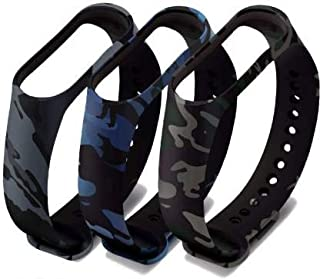 Datalact Camouflage Strap for 4 and 3 Band Smart Band Strap Pack of 3 Smart Band Strap(Mullti Color)