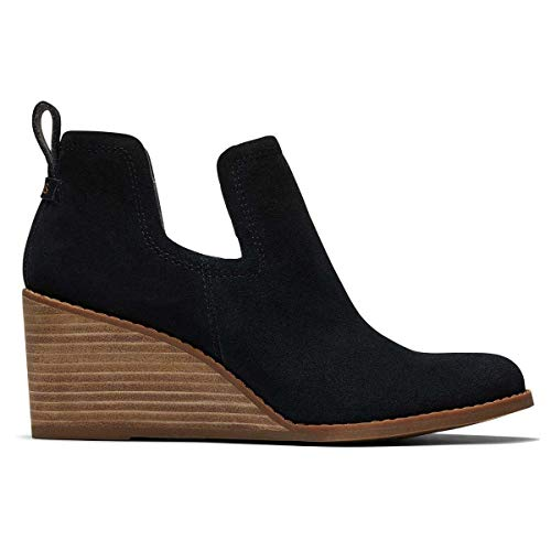 TOMS - Womens Kallie Boots, 6.5 UK, Black Suede