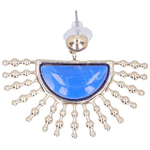 idalinya Pendiente, Pendiente Pendiente, Pendiente semicírculo para Fiestas de Baile Fiestas de días Festivos(Blue)