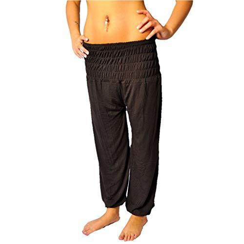 Aladin, pantaloni in stile orientale, di misura universale Dunkelbraun Taglia universale