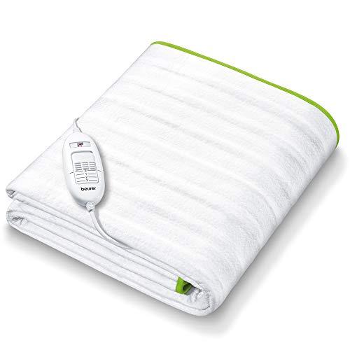 Beurer TS 15 Wärmeunterbett | mit Sicherheitsautomatik aus weichem Vlies und mit 3 Temperaturstufen | einfache Fixierung auf Bett und Matratze | waschbar bei 30⁰ | 150 x 80 cm