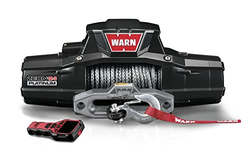WARN 95960 ZEON 12-S Platinum 12V Electric Winch with Spydura Pro Synthetic Cable Rope: 3/8' Diameter x 80' Length, 6 Ton (12,000 lb) Capacity