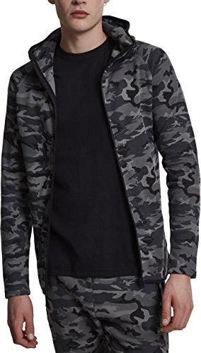 Urban Classics Interlock Camo Zip Jacket Sweatshirt à Capuche, Multicolore (Camouflage foncé 784), S Homme