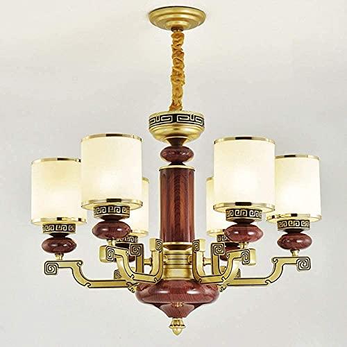 TAIDENG Nueva lámpara de aleación de Zinc de la lámpara del Estudio de la lámpara de la Sala de Estar de la araña China (Size : 6lights(68 * 47cm))