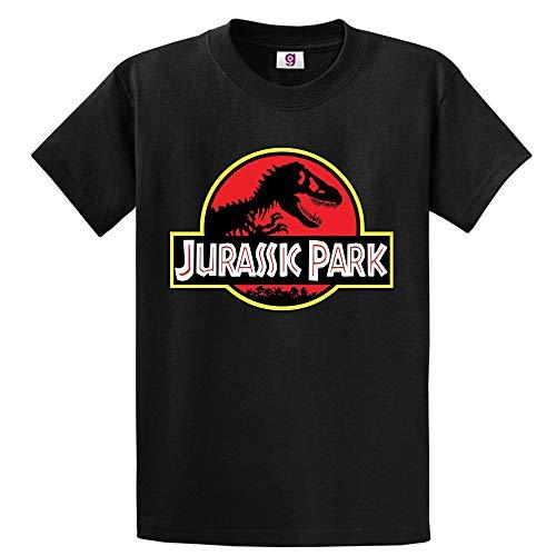 Graphic Impact - Camiseta para hombre y mujer, de estilo vintage, efecto desgastado, con estampado inspirado en Jurassic Park