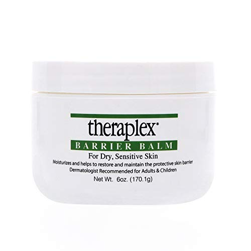 Theraplex Barrier Balm Moisturizer - Restores Dry Sensitive Skin, No Parabens or Preservatives, Noncomedogenic, and Hypoallergenic, Fragrance-Free, Dermatologist recommended (6 oz)