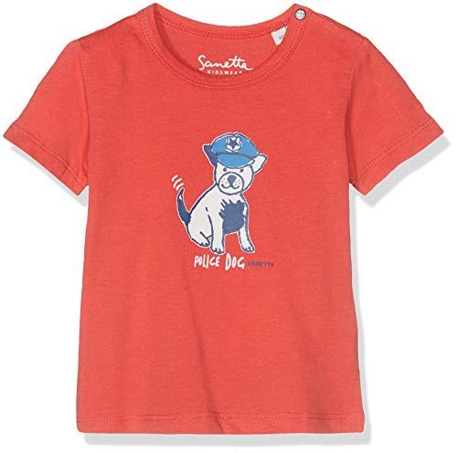 Sanetta Baby-Jungen T-Shirt, Rot (Lax Red 38054), 74 (Herstellergröße: 074)