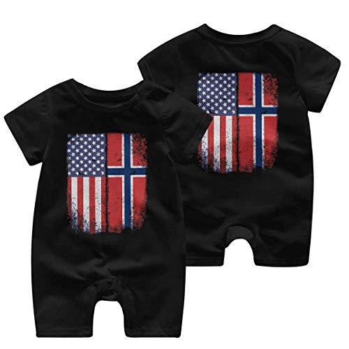 Vestido rei Vintage Americana bandera noruega bebé mono de una pieza ropa de bebé Multicolor multicolor 18 meses