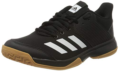 adidas Womens Ligra 6 Volleyball Shoe, Core Black/Cloud White/Gum, 38 2/3 EU