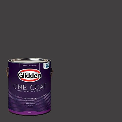 Glidden Exterior Paint + Primer: Black/Black Magic, One Coat, Satin, 1-Gallon