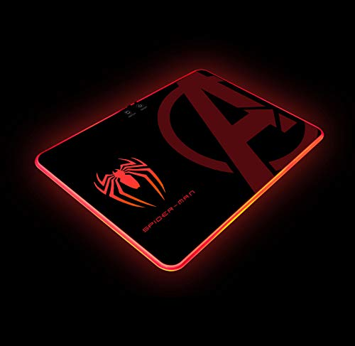 Spider Man RGB Gaming Mouse Pad Atmosphere Light Mouspad Hard Surface Personalized Design Gifts for Gamer W14'X H10' (350 X 250 mm)
