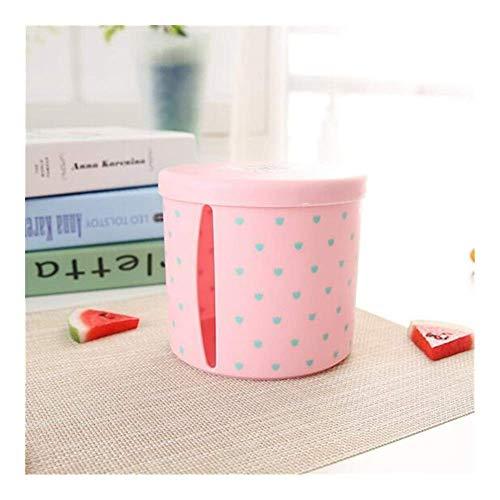 ZYQHJKLHK 1Pcs Caja de pañuelos de plástico portátil Rollo de Papel Caja de Almacenamiento de servilletas de pañuelos húmedos Inodoro Sala de Estar Oficina (Color: C176 Pink)