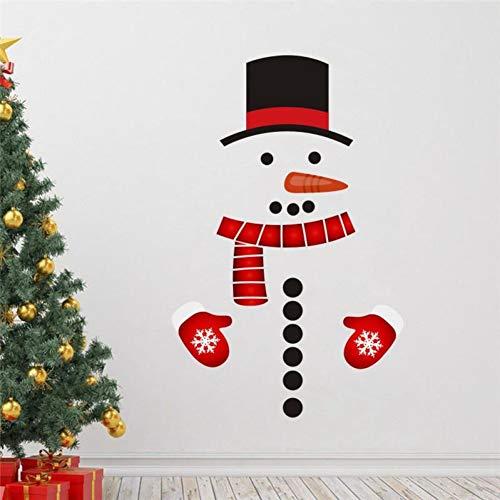 MSIKU Muursticker Kerstmis Pvc Sneeuwman Koelkast Sticker Festival Home Decor Diy Muursticker Verwijderbare Deur Muren