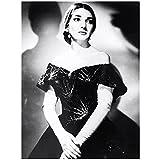WEUEWQ Maria Callas Opera Singer Schwarz Weiß Portrait