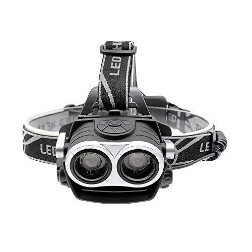 Super LED Headlamp 2xT6 Zoomable Headlight Fishing Hunting Bicycle Head Lamp USB Rechargeable Lantern FlashLight use 18650