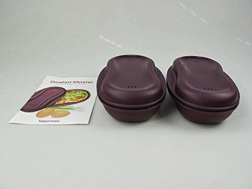 TUPPERWARE Tortilla Maker de 430 ml púrpura (2) + Libro de recetas alemán