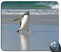 動物鳥ペンギンパーソナライズされた長方形のマウスパッド、印刷された滑り止めゴム快適なカスタマイズされたコンピューターマウスパッドマウスマットマウスパッド