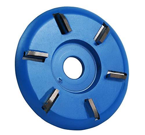 Holzschnitzscheibe mit sechs Zähnen, 90 mm Durchmesser, 16 mm Bohrfräser für Winkelschleifer Holzbearbeitung Turbo Tea Tray Digging