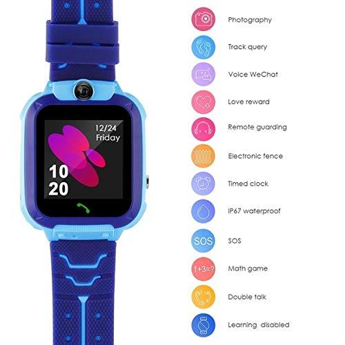 Kinder Smartwatch wasserdicht, Micoke Touchscreen Mobile Smartwatch für Mädchen Jungen, SOS Call SIM-Karte Smartwatch mit Kamera, Spiel für Kinder Geburtstag, Urlaub, Blau