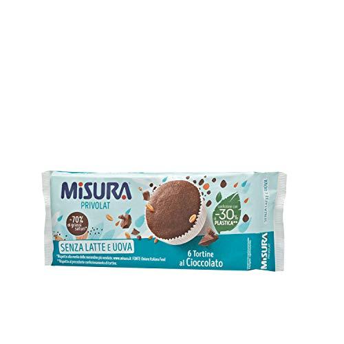 Misura Tortine al Cioccolato Privolat | Senza Latte e Uova | Confezione da 240 grammi