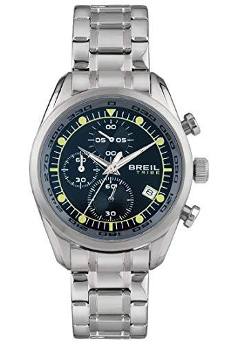 Reloj Breil colección Spoiler Movimiento de Cuarzo cronógrafo y Brazalete de Acero para Hombre ES One Size